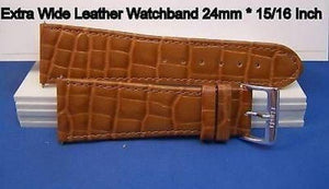 24mm Wide Tan Leather .Genuine Leather.Good Quality Watchband