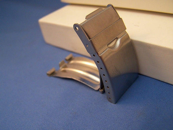 Watch Bracelet TriFold buckle. 20mm End Link Attach and 10mm Center Link Attach