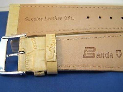 24mm Wide Bone Leather .Genuine Leather.Good Quality Watchband