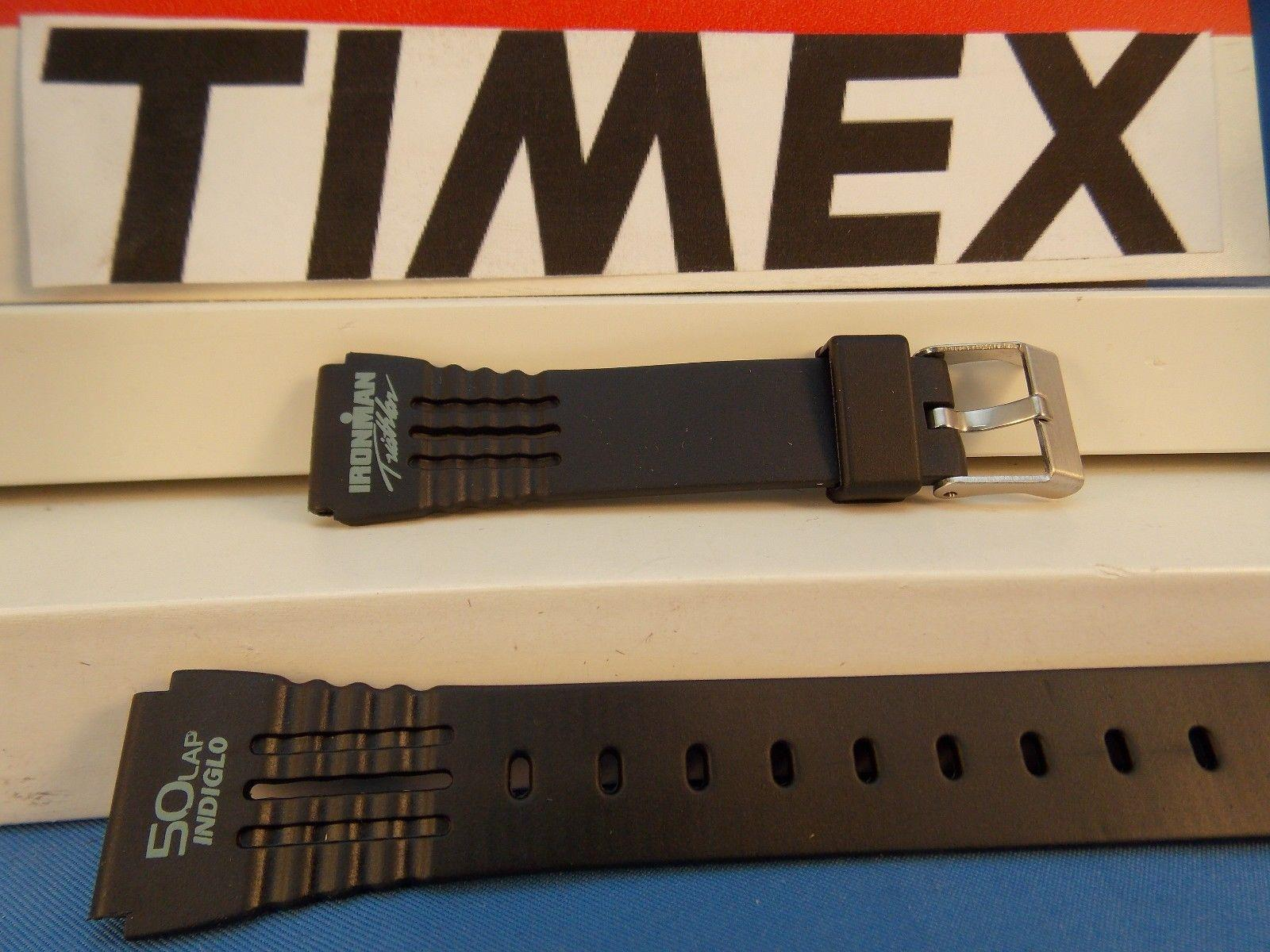 Timex watchband IronMan Triathlon ladies 50 Lap black Rub w/Green Graphic 15mm