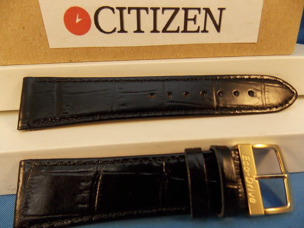 Citizen watchband  G820-T00170,G820-T00L700,G820-T001896.Black Leather 21mm