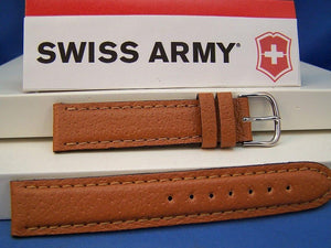 Swiss Army watchband Cavalry Pig Skin 19mm Mans  With Steel buckle