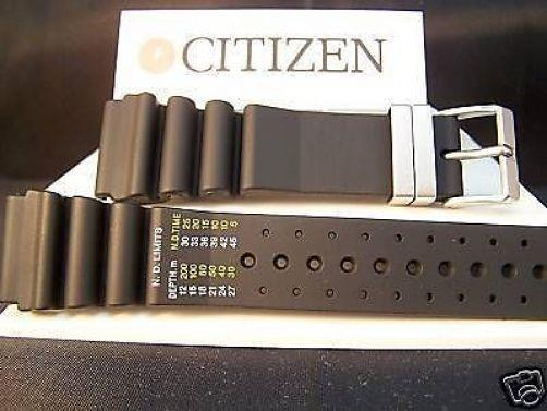 Citizen Watchband Aqualand 24mm Printed Band Register in Meters Steel buckle