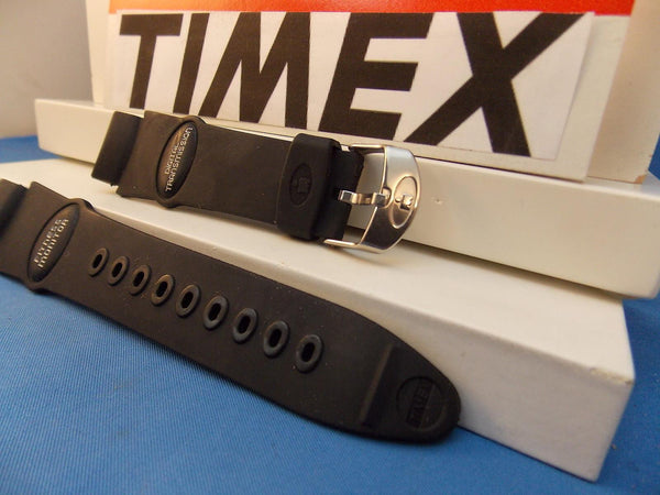 Timex watchband Fitness Monitor Digital Transmission Black Rub  - Last One