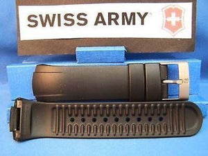 Swiss Army watchband ST5000 Man's Black Resin  / Watchband w/Pins