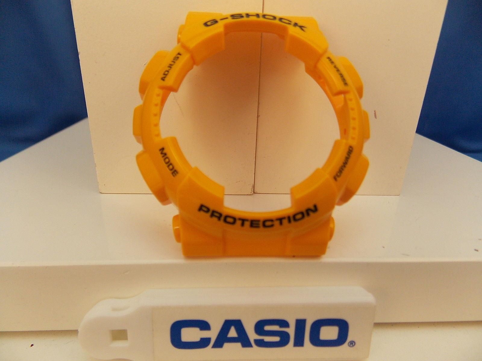 Casio Watch Parts GA-100 A-9 Shiny Mustard Yellow Bezel/Shell Black G-Shock
