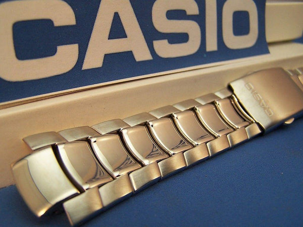 Casio watchband EF-S11, MTP-1249 All Steel Push Button Release Logo  Bracelet
