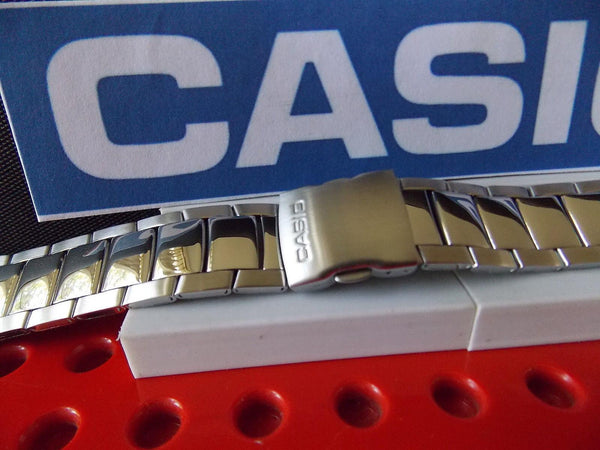 Casio watchband EFA-110 D Edifice Bracelet Silver Tone Stainless Steel w/ Pins