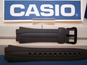 Casio watchband AQ-160 W-7 Gray Rubber . Also fits AQ-163
