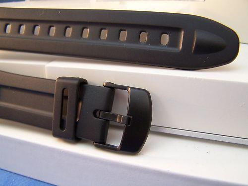 Casio watchband W-96. Black Resin . Original Watchband