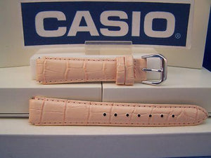 Casio watchband LAW-20 L-4 Ladies Pink Leather