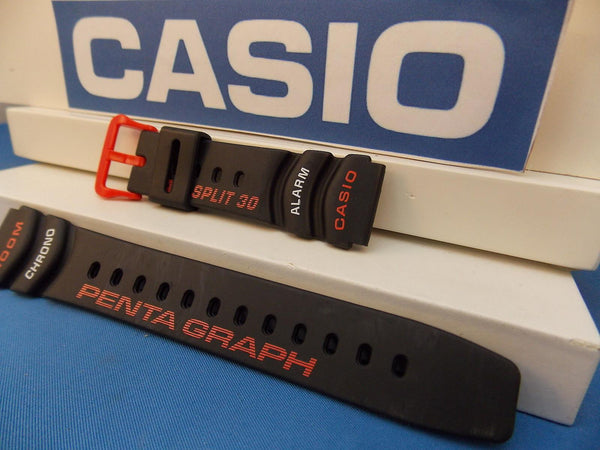 Casio watchband PGW-30 -4 Pentagraph Lap Split 30 Orange/white Graphic Watchband