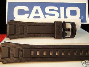 Casio watchband WV-59. For  Atomic Wave Ceptor World Time Black Resin