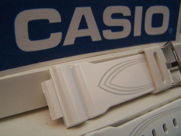 Casio watchband GLX-5600 -7 G-Lide Shiny white G-shock Watchband- w/Graphics