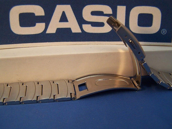 Casio watchband AQ-160 WD-1 Steel Bracelet W/ Push Button Deployment buckle