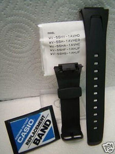 Casio watchband EFA-109 Original Black Rubber Case Fitted . Watchband