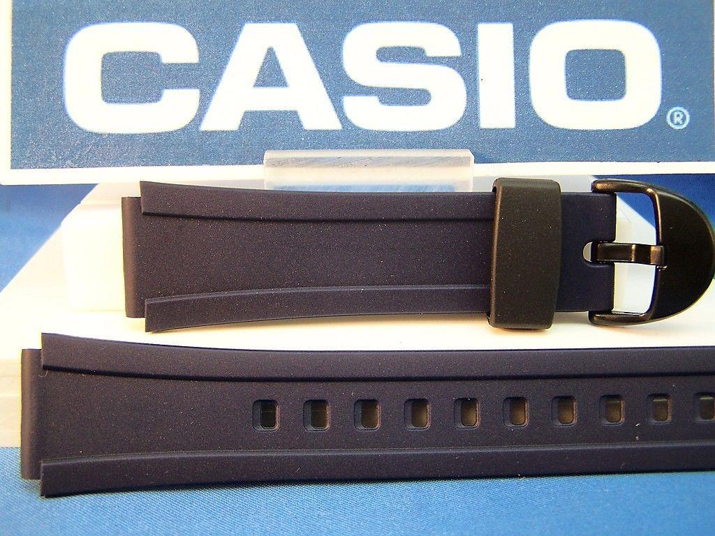 Casio watchband W-E10 -2 blue Resin  18mm