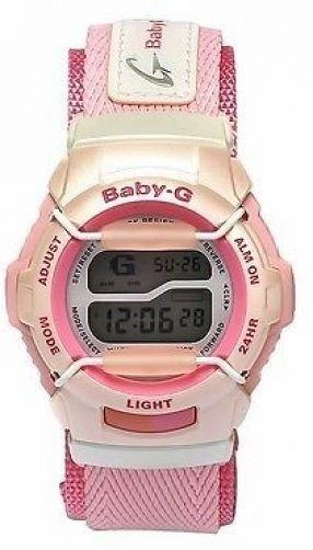 Casio watchband BG-152 -V4 Pink Double Wrap NylonGrip Baby G File w/Snap buckle