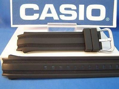 Casio watchband AMW-702 Fishing Gear Black Resin Sport Band w/pins