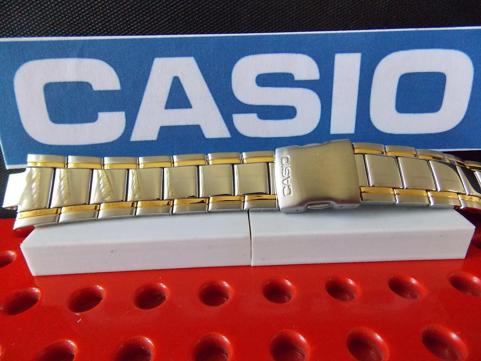Casio watchband EFA-109 D Edifice Bracelet Two Tone Silver/Gold Stainless Steel