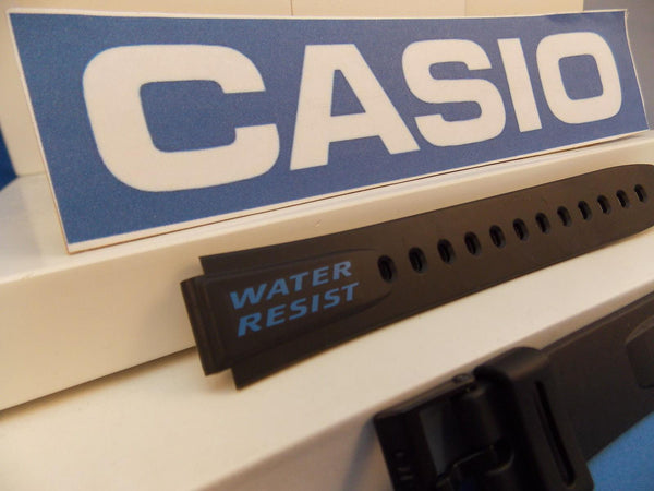 Casio watchband W-723 Black w/ blue Graphics: Alarm Chrono Water Resist. 14mm