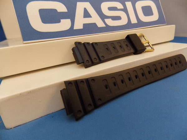 Casio watchband DW-500 Gold Tone buckle Original ladies G-Shock Black Resin