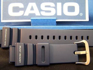 Casio watchband G-9100 -2 blue.G-Shock Dual Illuminator