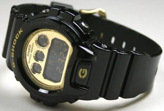 Casio Watch Parts DW-6900 CB-1 Bezel / Shell G-Shock Gloss black Gold Tone Letter