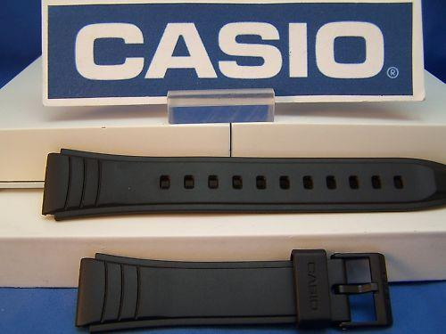 Casio watchband AW-49 Black Resin  Fits Most Any 19mm Wide Sport Watch