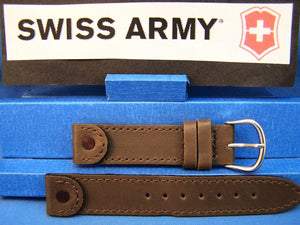 Swiss Army watchband Cavalry Ladies Brown Leather 16mm w/Rivet