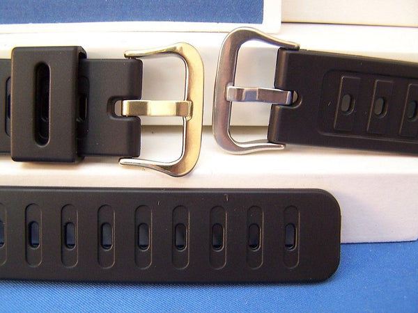 Casio watchband DW-210,DW-240,DW-260, DW-270.Black Rub  w/gold tone buckle