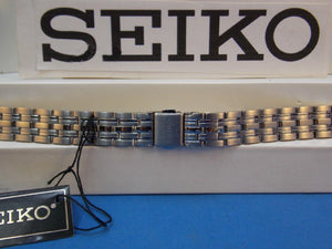 Seiko WatchBand SXDC26 P1 12mm Curved End Bracelet w/Push Button Logo buckle