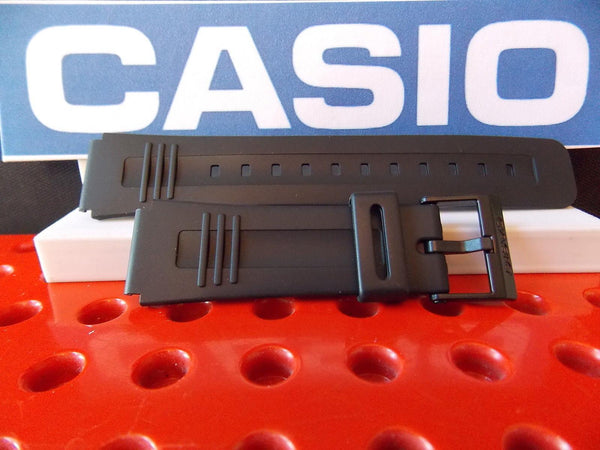 Casio watchband CA-56, LDF-40, DBC-V50, DB-V30 Black Resin Calculator