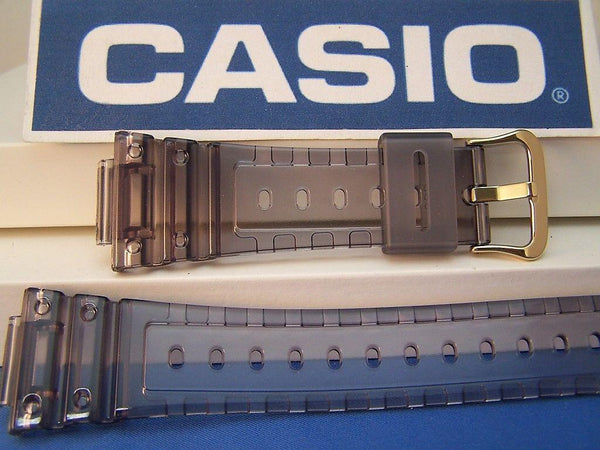 Casio watchband DW-5025 D-8V. Fits G-Shock DW-5600E Smoke Gray Clear.