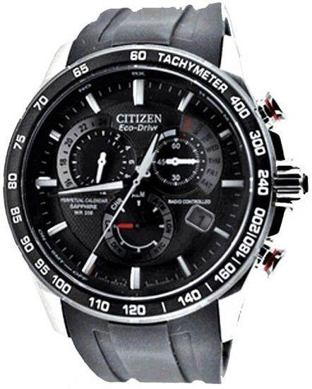 Citizen watchband AT4008 -01E Black Rubber  For Perpetual Calendar Watch