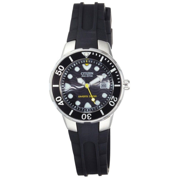 Citizen watchband EP6010 Ladies 300m Eco Drive Divers  Black Resin