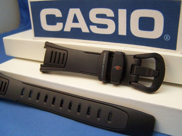 Casio watchband STP-100 J-1B Casio Walking and Calorie Black  Watchband -