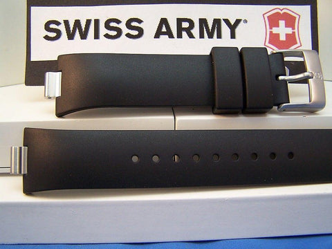 Swiss Army watchband Summit XLT Chrono. Black Resin /Watchband With Pins