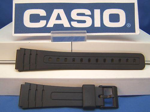 Casio watchband F-105 W, F-91 W. 18mm Black Resin