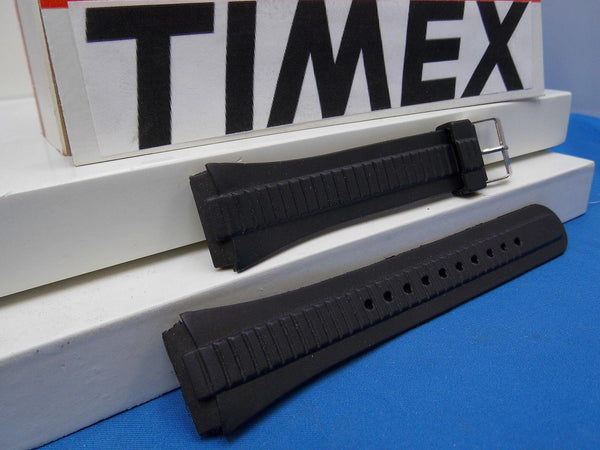 Timex watchband Unknown Style Original New Black Resin  18mm