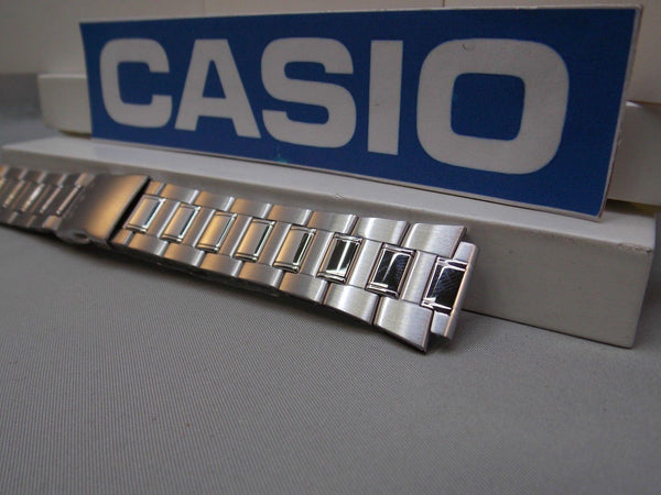 Casio watchband AQ-164 Steel Bracelet W/Push Button Deployment buckle 18mm X 25mm
