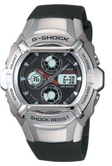 Casio watchband G-700, G-501, G-511, G-550.  Black Resin G-Shock