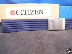 Citizen watchband JY0000.Skyhawk Blue Resin Steel Push Button Buckle.
