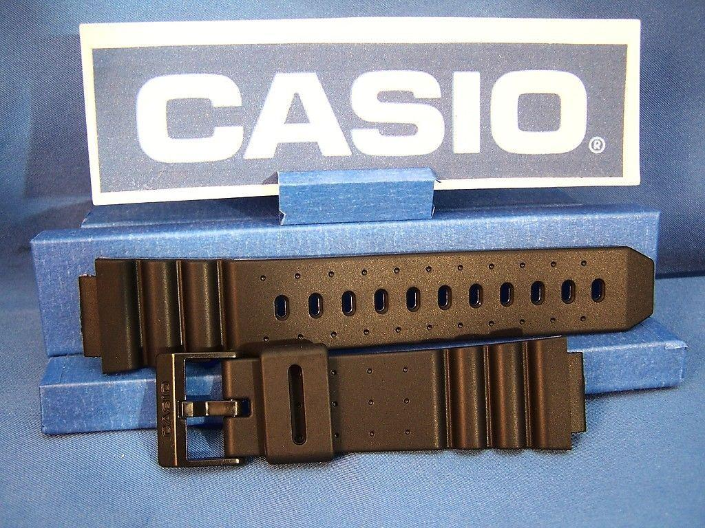 Casio watchband ARW-320, AQ-130. Black Resin  For Alti-Depth Digital Analog