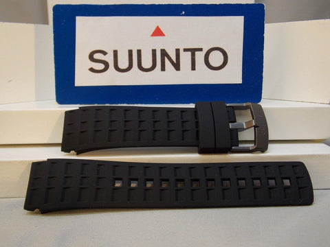 Suunto watchband ElementumTerra Black: Resin /buckle w/Spring Bars