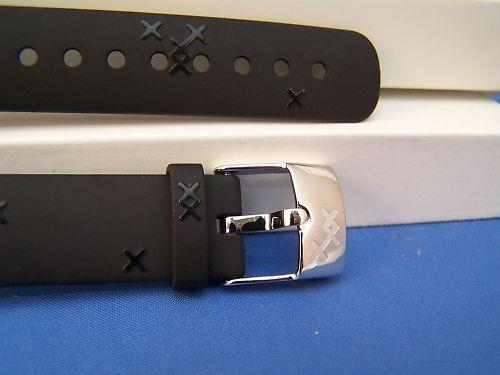 Suunto watchband M5. Ladies  Black Resin w/Attach Pin