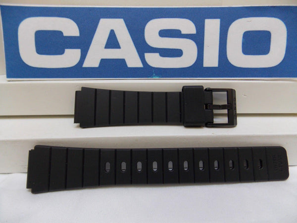 Casio watchband MQ-61 16mm Black Resin, Watchband, Sport  for 16mm Watch