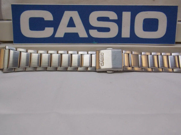 Casio watchband WS-200, WS-210 Bracelet 18mm X 24mm Steel Silver Tone