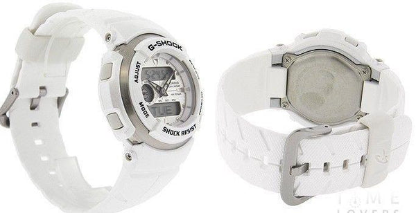 Casio watchband G-300 LV-7 White Resin G-Shock Watchband -