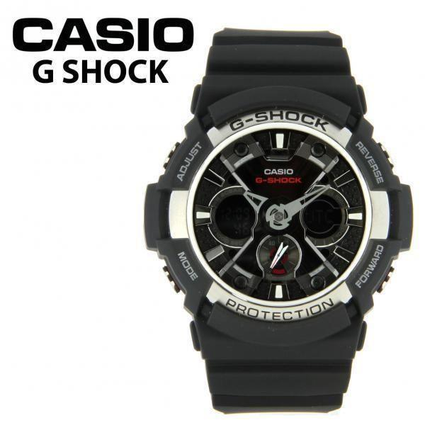 Casio watchband GA-100, GA-200, GA-201 Black Rubber  / Watchband